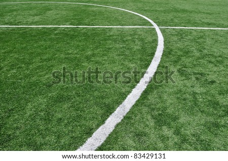 Stripes on football field as background
