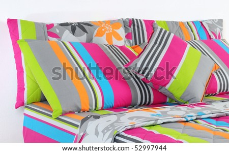 Stripped bedding. - stock photo