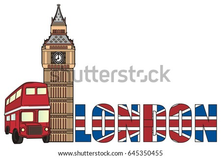 stripped inscription london big ben tower stock illustration rh shutterstock com big ben london clipart big ben free clip art