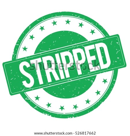 STRIPPED stamp sign text word logo green.