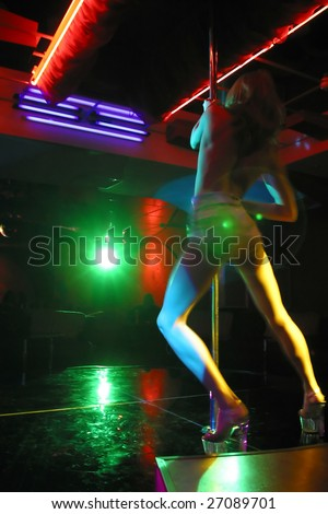 striptease in night club - stock photo