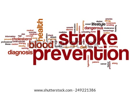 Stroke prevention word cloud concept - stock photo