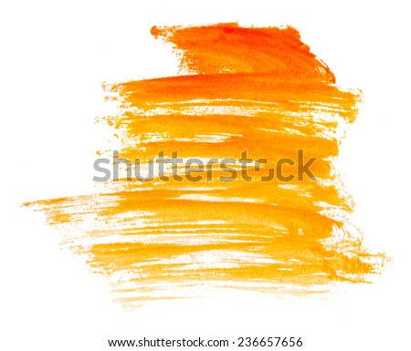 Strokes of paint isolated on white background - stock photo
