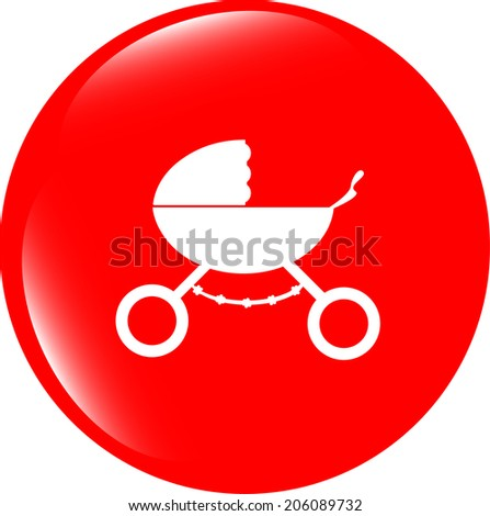 stroller icon in mode - stock photo