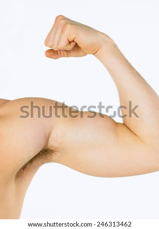 strong biceps - stock photo