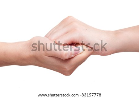 strong coupling of hands - stock photo