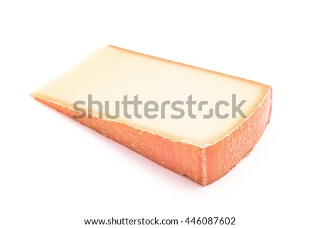 strong flavor cheese slice isolated - stock photo