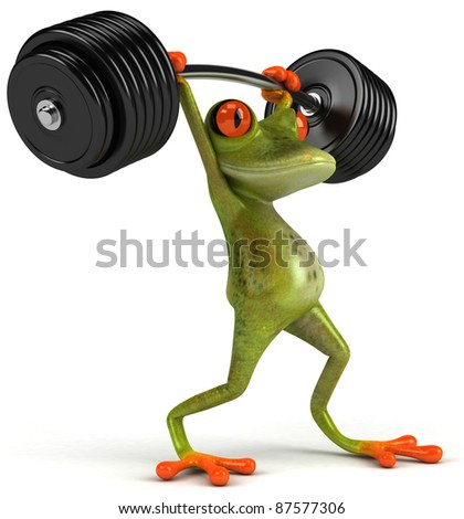 Strong frog - stock photo