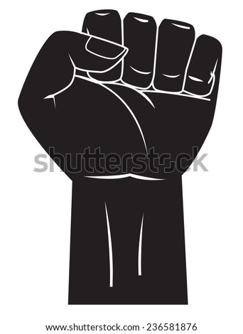 Strong hand - stock photo