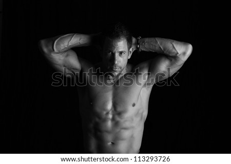 Strong male - stock photo