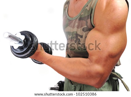 Strong man with a helthy body - stock photo