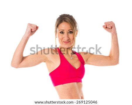Strong sport woman