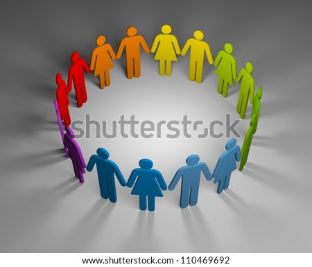 Strong team - stock photo