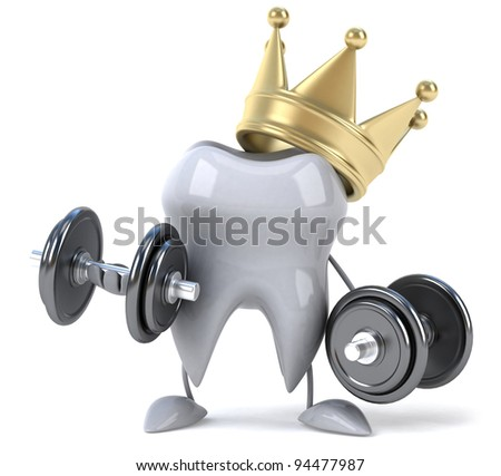 Strong tooth - stock photo