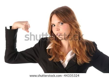 Strong woman - stock photo