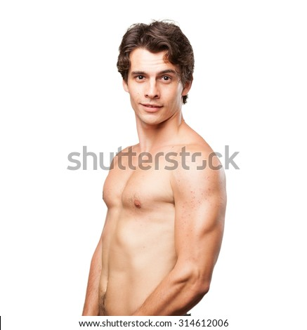 strong young man proud pose - stock photo