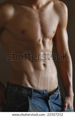 strongest man - stock photo