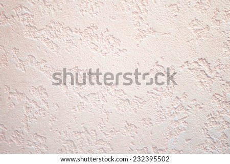 Structural plaster on wall  - stock photo
