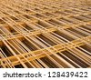 Structural steel in construction. - stock photo
