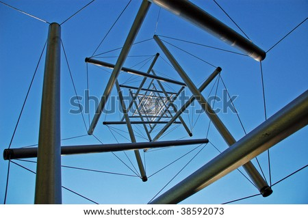 Structure in Kroller Muller museum, Netherlands - stock photo