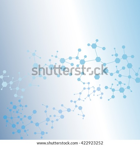 Structure molecule and communication Dna, atom, neurons. Science concept for your design. Connected lines with dots. Medical, technology, chemistry, science background. illustration