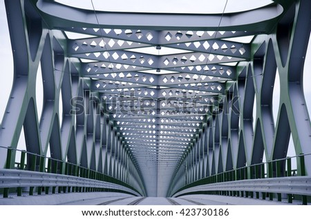 Structure of bridge  - stock photo
