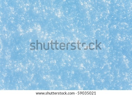 Structure of snow surface  (nature background)