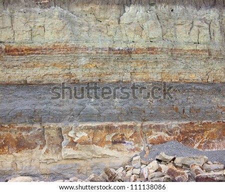 Structure of soil - stock photo