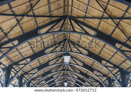 structure steel of roof