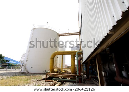 Structure & tank the liquid from the tank reactor in power plant - stock photo