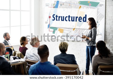 Structured Building Construction Design Plan Concept - stock photo