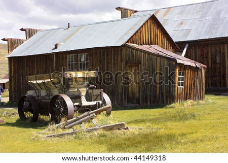 Structures in Bodie, California.