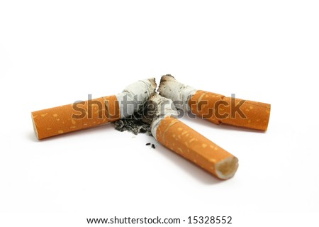 stub of cigarettes with ashes