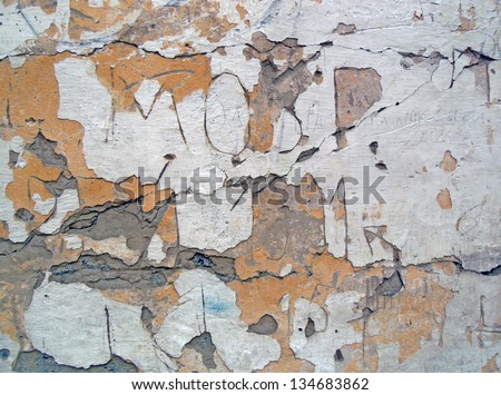 stucco decays - stock photo