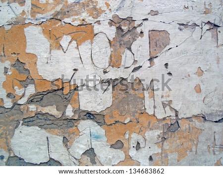 stucco decays - stock photo