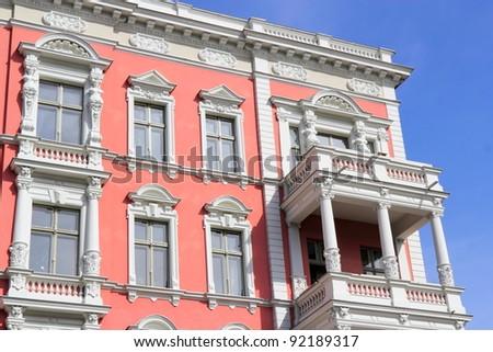 Stucco facade - stock photo