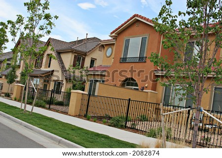 Stucco homes - stock photo