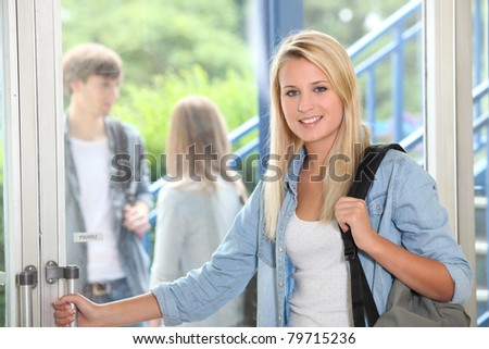 student at school - stock photo