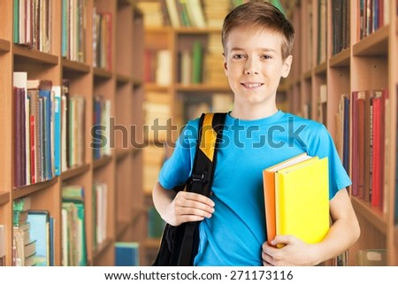 Student, boy, classroom. - stock photo