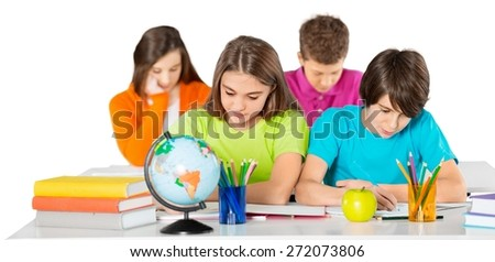 Student, classroom, school. - stock photo