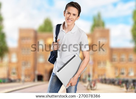 Student, college, black. - stock photo