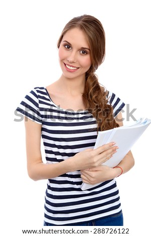 Student Girl isolated over background