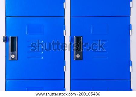 Student Gym Lockers University School Campus - stock photo