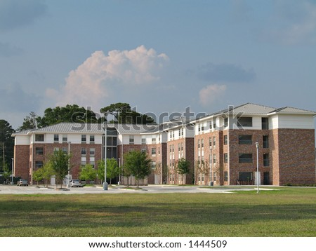student housing residence hall - stock photo