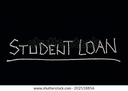 Student loan, unusual concept - stock photo