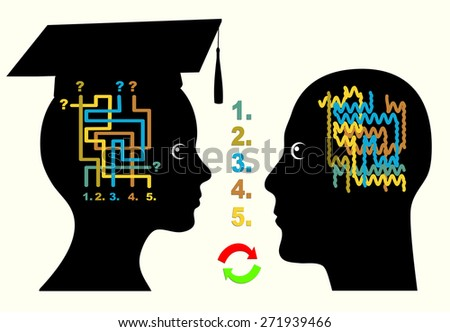Student Mentor. Concept sign of a student counselor working on joint solutions  - stock photo