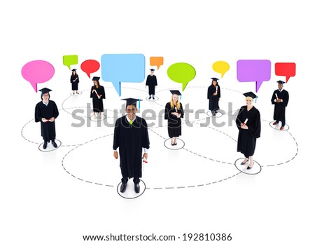 Student Network - stock photo