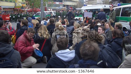 Student protest demonstration (against studying fees) 2005 - Germany