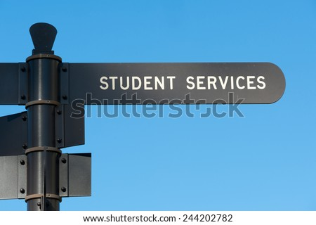 Student services sign at San Diego State University - stock photo