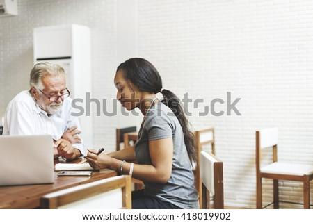 Student Teacher Studying Lesson School Concept - stock photo